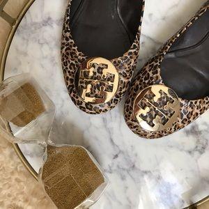 Tory Burch • Leopard Leather Flats
